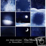 One Miracle Night Paper Pack-$3.99 (Fly Pixel Studio)