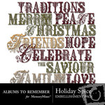 Holiday Spice WordArt-$1.99 (Albums to Remember)