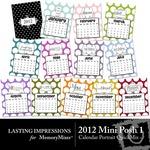 2012 Mini Posh Calendar PT QuickMix 1-$1.49 (Lasting Impressions)