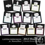 2012 Mini Posh Calendar PT QuickMix 2-$1.49 (Lasting Impressions)