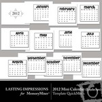 2012 mini landscape calendar qm temp small