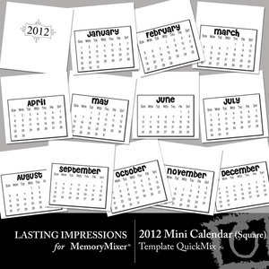 2012 mini square calendar qm temp medium