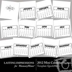2012 mini square calendar qm temp small