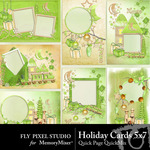 Holiday Cards Quick Page QuickMix-$1.75 (Fly Pixel Studio)