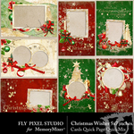 Christmas Wish Cards Quick Page QuickMix-$1.75 (Fly Pixel Studio)