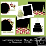 Merry Christmas Cards QuickMix-$1.99 (Lasting Impressions)