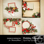 Holiday Memories Quick Page QuickMix-$3.49 (Indigo Designs)