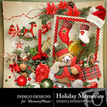 Holiday Memories Embellishment Pack-$2.99 (Indigo Designs)