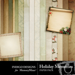 Holiday Memories Paper Pack-$3.99 (Indigo Designs)