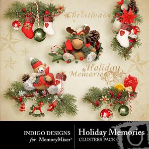 Holiday memories clusters medium