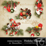 Holiday Memories Cluster Pack-$1.99 (Indigo Designs)
