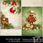 Christmas Cards Embellishment Pack 1-$0.99 (Fly Pixel Studio)