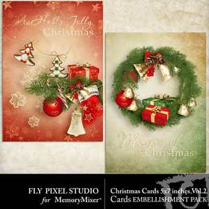Christmas cards emb 2 medium