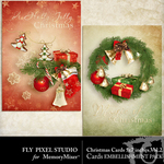 Christmas Cards Embellishment Pack 2-$0.99 (Fly Pixel Studio)
