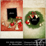 Christmas Cards Quick Page QuickMix Vol 2-$0.75 (Fly Pixel Studio)