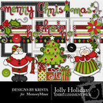 Jolly Holiday DBK Embellishment Pack-$1.99 (Designs by Krista)