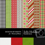 Jolly Holiday DBK Paper Pack-$3.99 (Designs by Krista)