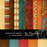 Be Thankful Paper Pack-$3.99 (Designs by Krista)