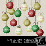 Celebrate the Season Bulbs Embellishment Pack-$1.99 (Lindsay Jane)