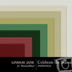 Celebrate the Season Embossed Paper Pack-$2.49 (Lindsay Jane)