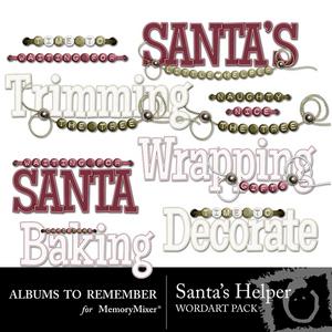 Santas helper wordart medium