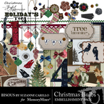 Christmas Bulbs Embellishment Pack-$2.99 (Bisous By Suzanne Carillo)