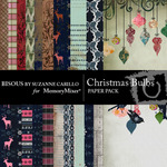 Christmas Bulbs Paper Pack-$3.99 (Bisous By Suzanne Carillo)