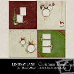 Christmas Trimmings LJ Quick Page QuickMix-$3.49 (Lindsay Jane)