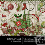 Christmas Trimmings LJ Embellishment Pack-$3.99 (Lindsay Jane)