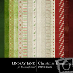 Christmas Trimmings LJ Paper Pack-$3.99 (Lindsay Jane)