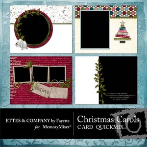Christmas carols ls cards qm medium