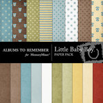 Little Baby Boy Paper Pack-$3.99 (Albums to Remember)