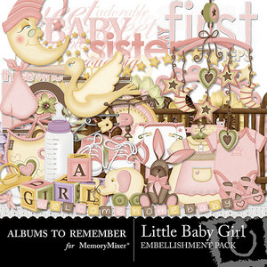Little baby girl emb medium