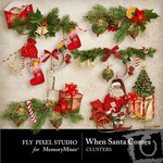 When Santa Comes Cluster Pack-$1.99 (Fly Pixel Studio)