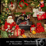 When Santa Comes Embellishment Pack-$2.99 (Fly Pixel Studio)