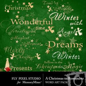 A christmas to remember wordart medium