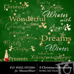 A Christmas to Remember WordArt Pack-$1.99 (Fly Pixel Studio)