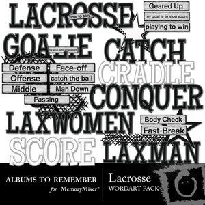 Lacrosse wordart medium