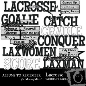 Lacrosse wordart medium