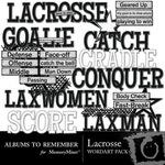 Lacrosse WordArt Pack-$1.99 (Albums to Remember)