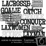 Lacrosse WordArt Pack-$1.99 (Albums to Remember)