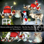 HoHoHo On My Way Cluster Pack-$1.99 (MagicalReality Designs)