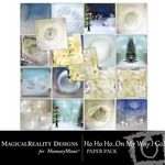 HoHoHo On My Way Paper Pack 1-$3.99 (MagicalReality Designs)
