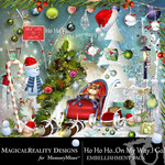 HoHoHo On My Way Embellishment Pack-$3.49 (MagicalReality Designs)