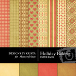 Holiday Baking Paper Pack-$3.49 (Designs by Krista)