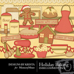 Holiday Baking Embellishment Pack-$2.99 (Designs by Krista)