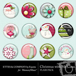 Christmas With Mr Claus Flair Pack-$1.49 (Fayette Designs)