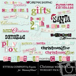 Christmas with mr claus wordart medium