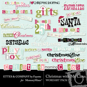 Christmas with mr claus wordart medium