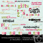 Christmas With Mr Claus WordArt Pack-$1.49 (Ettes and Company by Fayette)